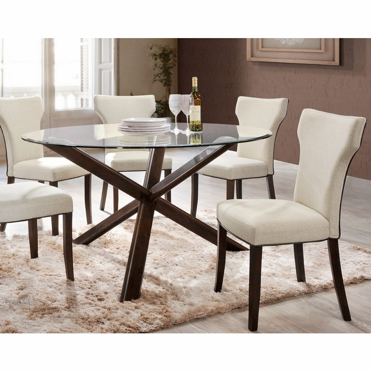 Chintaly - Davis 5 Pieces Dining Set Table With 4 Side Chairs - DAVIS-5PC-SET