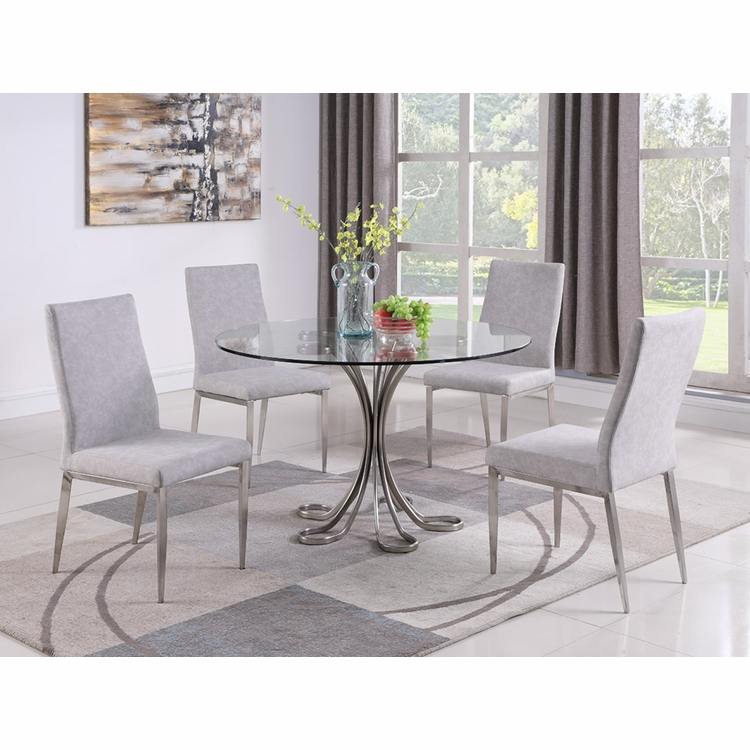 Chintaly - Desiree 5 Pieces Dining Set Table With 4 Side Chairs - DESIREE-5PC