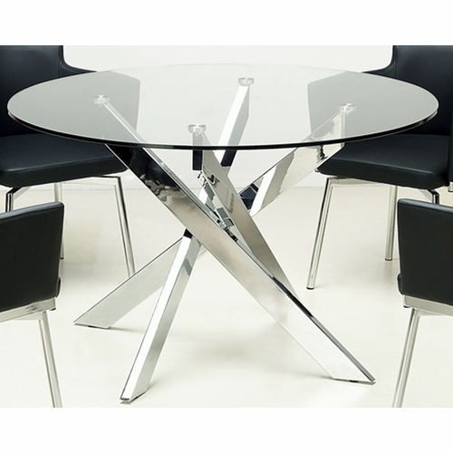 Chintaly - Dusty Round Glass Dining Table - DUSTY-DT