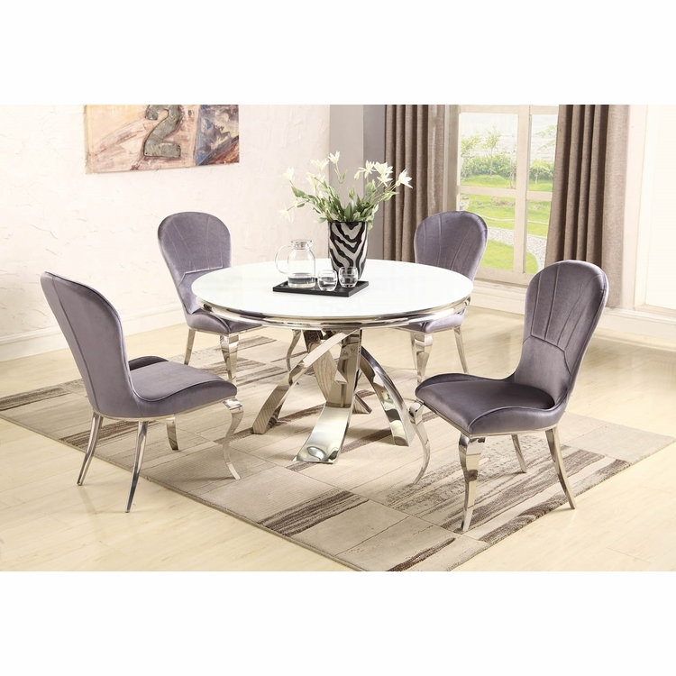 Chintaly - Erin 5 Pieces Dining Set Table With 4 Side Chairs - ERIN-5PC