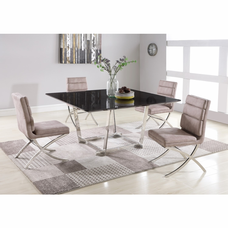 Chintaly - Gabriella 5 Pieces Dining Set Table With 4 Maya Side Chairs - GABRIELLA-MAYA-5PC