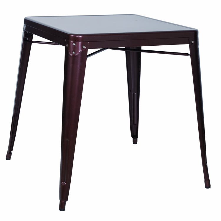 Chintaly - Galvanized Steel Dining Table Red Copper - 8029-DT-COP