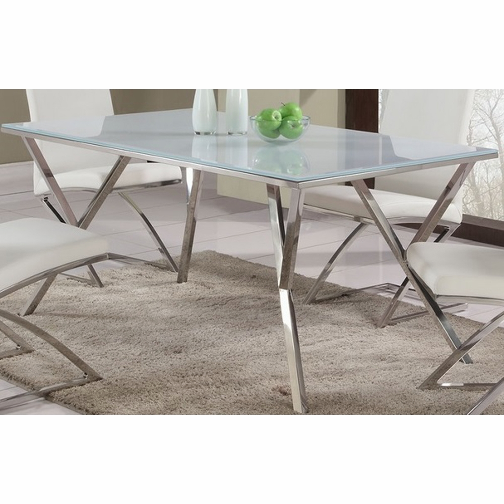 Chintaly - Jade Starphire Glass Dining Table - JADE-DT