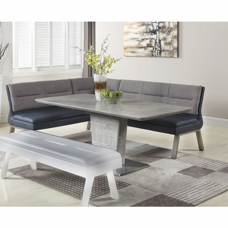 Chintaly - Jezebel 2 Pieces Dining Set Table With Nook - JEZEBEL-2PC-NOOK