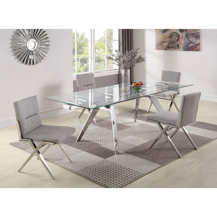 Chintaly - Josie 5 Pieces Dining Set Table With 4 Faith Side Chairs - JOSIE-FAITH-5PC