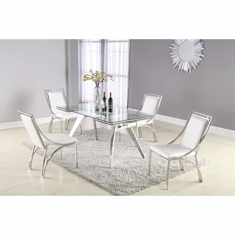 Chintaly - Josie 5 Pieces Dining Set Table With 4 Side Chairs - JOSIE-5PC