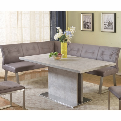 Chintaly - Kalinda Dining Table with Nook - KALINDA-DT-T_DT-M_DT-B_NOOK