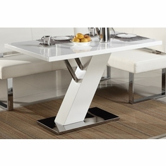 Chintaly Linden Modern Design White Dining Table Dt