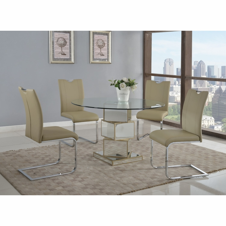 Chintaly - Marlene 5 Pieces Dining Set Table With 4 Melissa Side Chairs - MARLENE-MELISSA-5PC