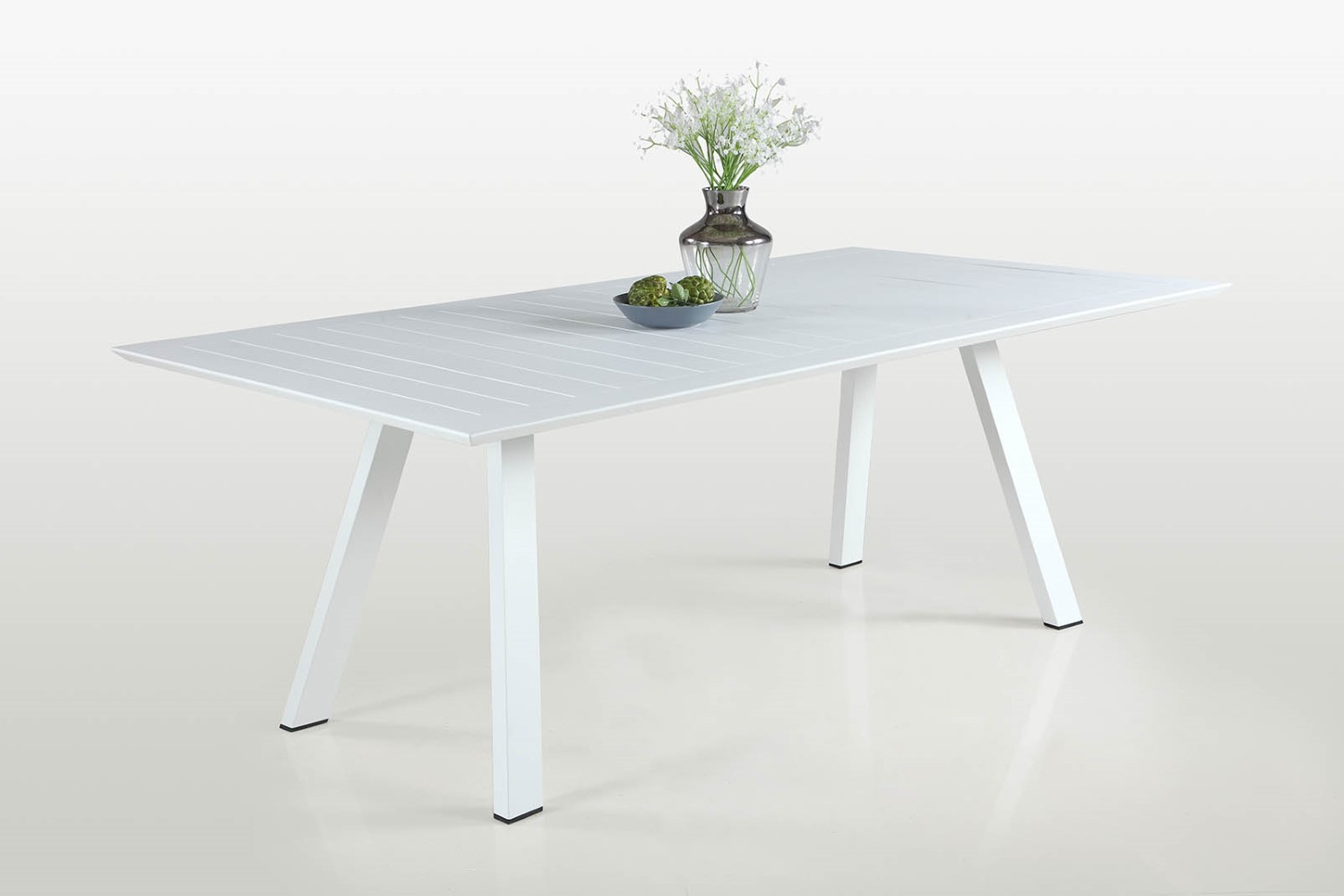 Large Rectangular Aluminum Dining Table