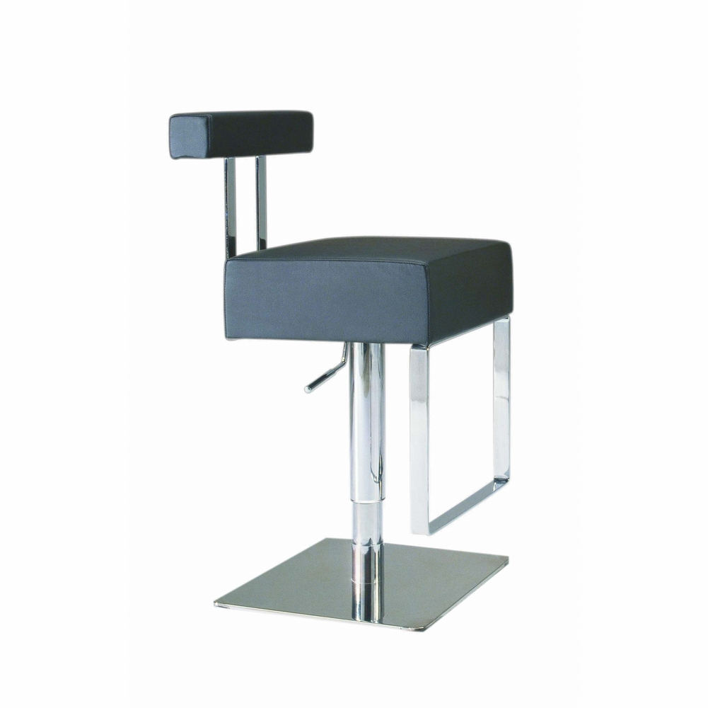 Incredible Chintaly Pneumatic Gas Lift Adjustable Height Swivel Stool Brushed Stainless Steel 0812 As Blk Forskolin Free Trial Chair Design Images Forskolin Free Trialorg