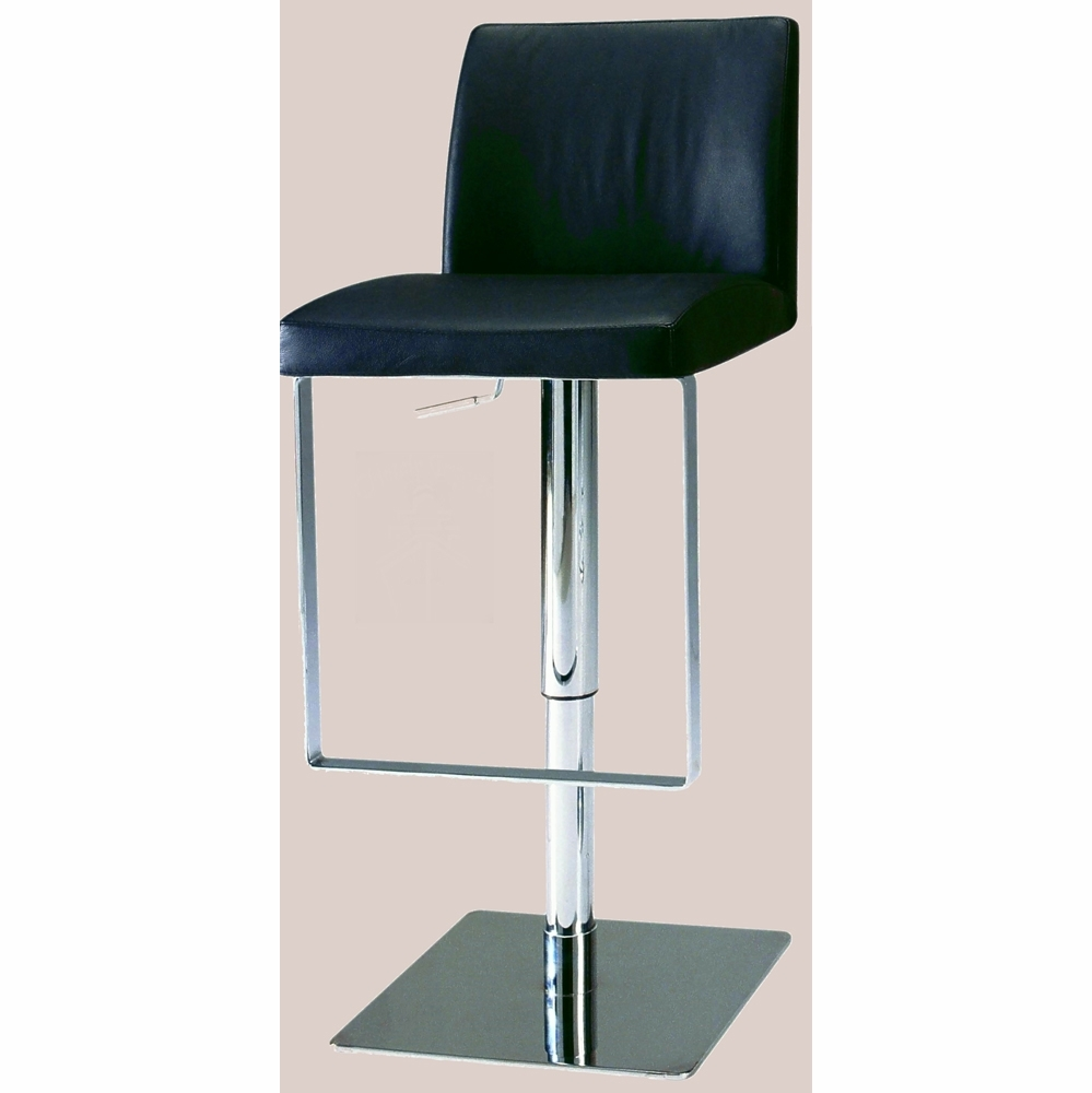 Fabulous Chintaly Pneumatic Gas Lift Adjustable Height Swivel Stool Brushed Stainless Steel 0813 As Blk Forskolin Free Trial Chair Design Images Forskolin Free Trialorg