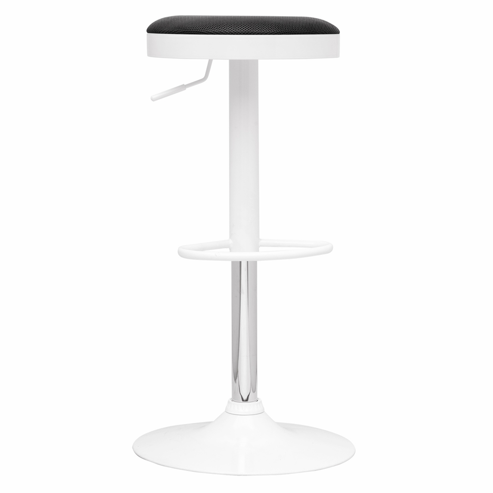 Astonishing Chintaly Pneumatic Gas Lift Adjustable Height Swivel Stool With Black Cover 0317 As Machost Co Dining Chair Design Ideas Machostcouk