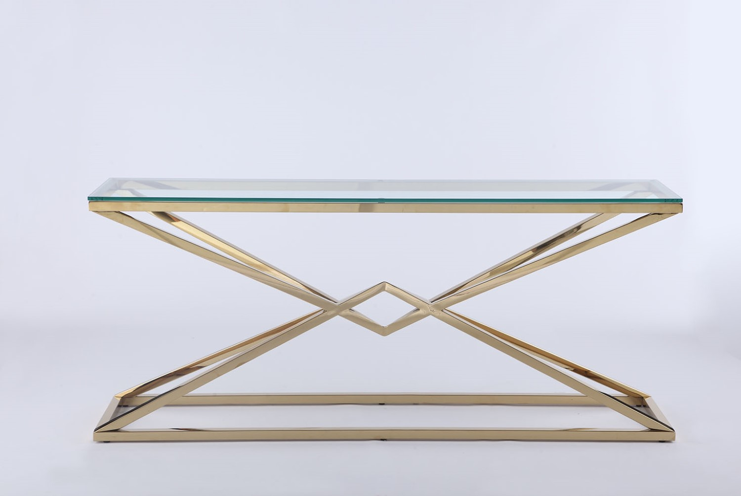 Admirable Chintaly Rectangular Sofa Table With 12Mm Glass Top 7616 St Ibusinesslaw Wood Chair Design Ideas Ibusinesslaworg