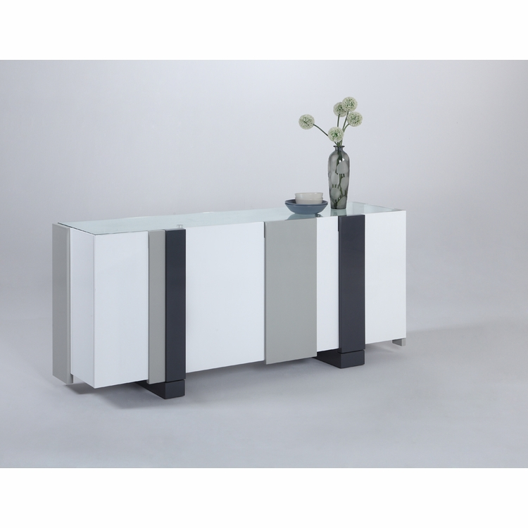 Chintaly - Shelley Modern Four Door Buffet - SHELLEY-BUF