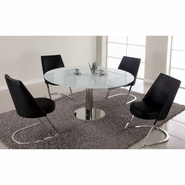 Chintaly - Tami 5 Pieces Dining Set Table And 4 Side Chairs In Black - TAMI-5PC-BLK