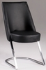 Chintaly - Tami Slight Concave Back Side Chair Black  Set of 2 - TAMI-SC
