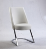 Chintaly - Tami Slight Concave Back Side Chair White  Set of 2 - TAMI-SC-WHT