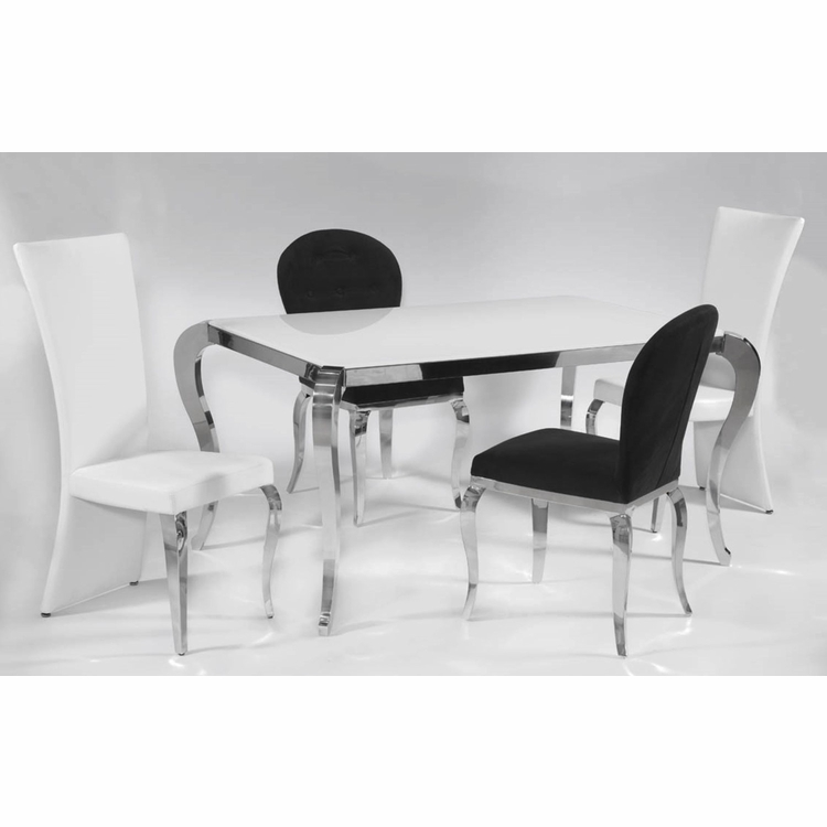 Chintaly - Teresa 5 Pieces Dining Set Oval Table With 4 Chairs - TERESA-OVL-5-PC-SET