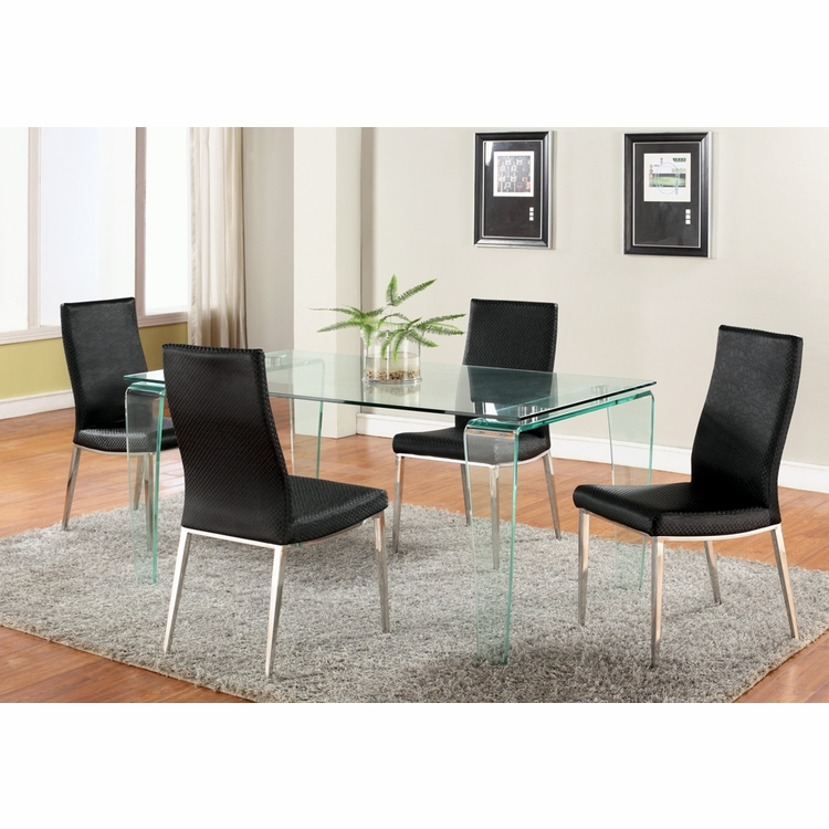 Chintaly - Vera 5 Piece Dining Set With Jamila Side Chairs - VERA-DT_JAMILA-SC
