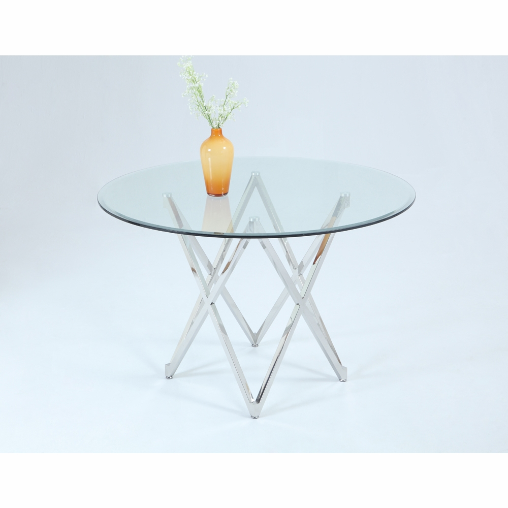 Chintaly Vivian Round Top Dining Table Dt Gl4810