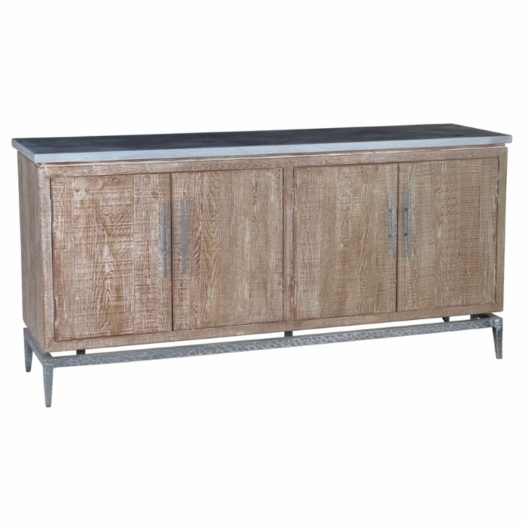 Classic Home - Cromwell 4 Door Sideboard with Stonetop Latte - 52003564