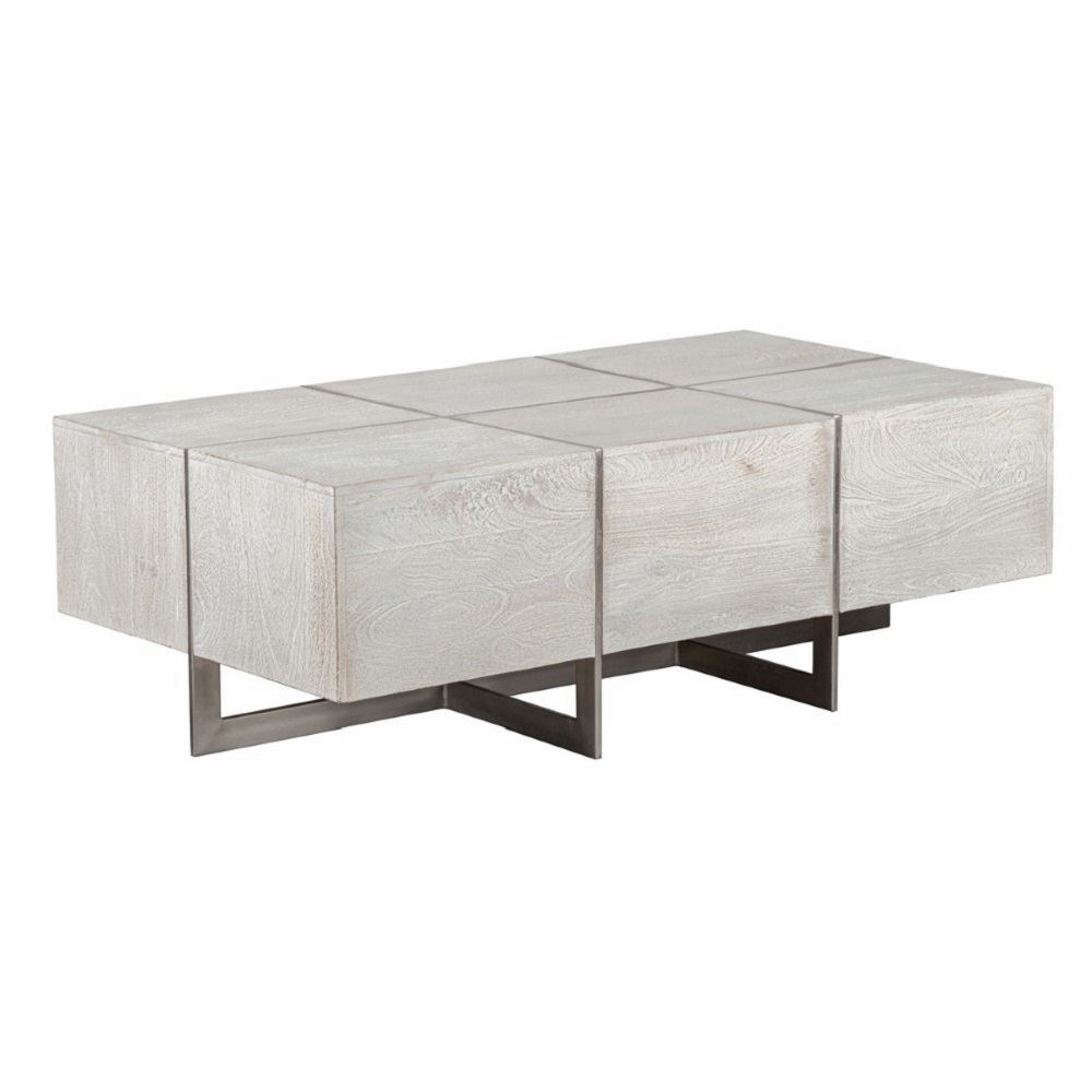Miraculous Classic Home Desmond Coffee Table Ivory 51010345 Caraccident5 Cool Chair Designs And Ideas Caraccident5Info