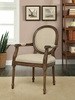 Coast to Coast Imports - Accent Chair In Mid Brown Wash - 56308