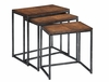 Coast to Coast Imports - Nesting Tables In Brown Cherry - 14028
