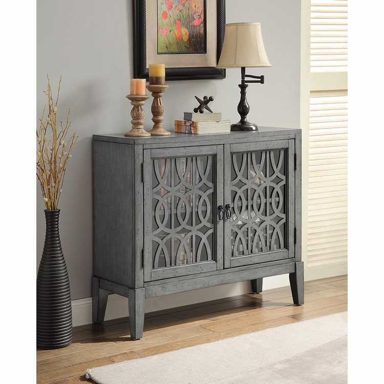 Coast to Coast Imports - Two Door Cabinet In Grey - 70700