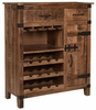 Coast To Coast - One Door Two Drawer Wine Cabinet in Crossroads Natural - 44620