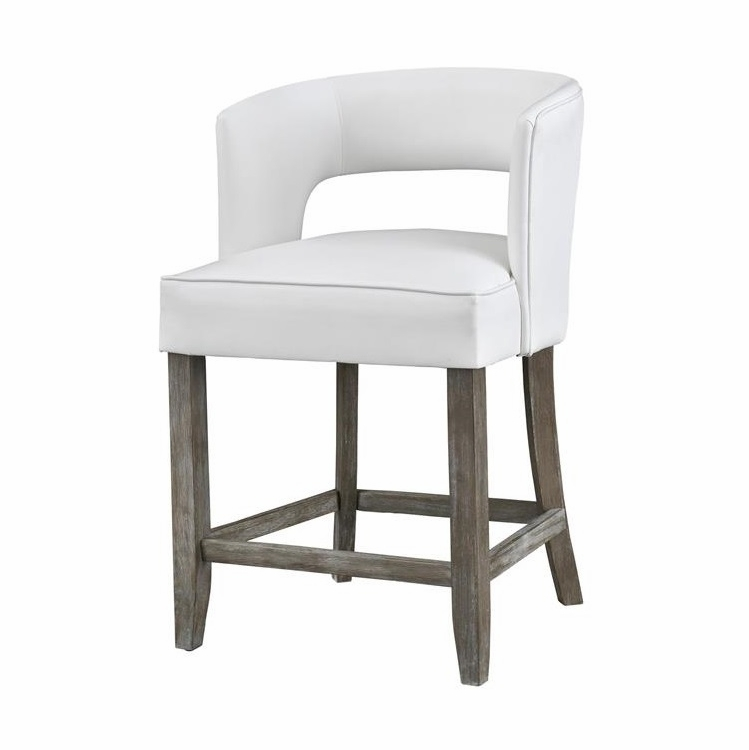 Coast To Coast - Counter Height Barstool in Philly Brown w/White Fabric - 48116