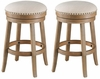 Coast To Coast - Set of 2 Swivel Counter Stools in Toffee Brown w/Oatmeal Fabric - 48118