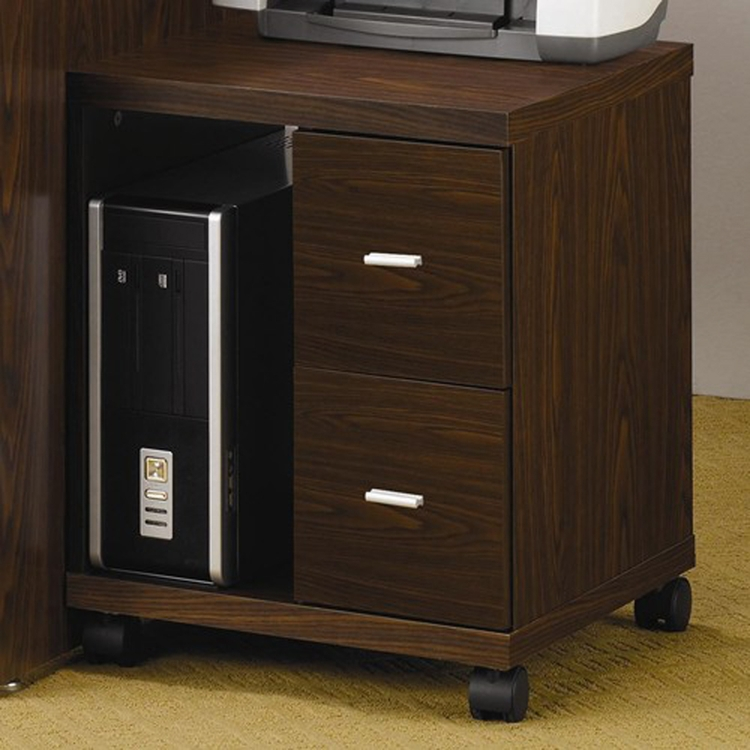 Coaster - 2 Drawer Computer Stand (Brown) - 800832