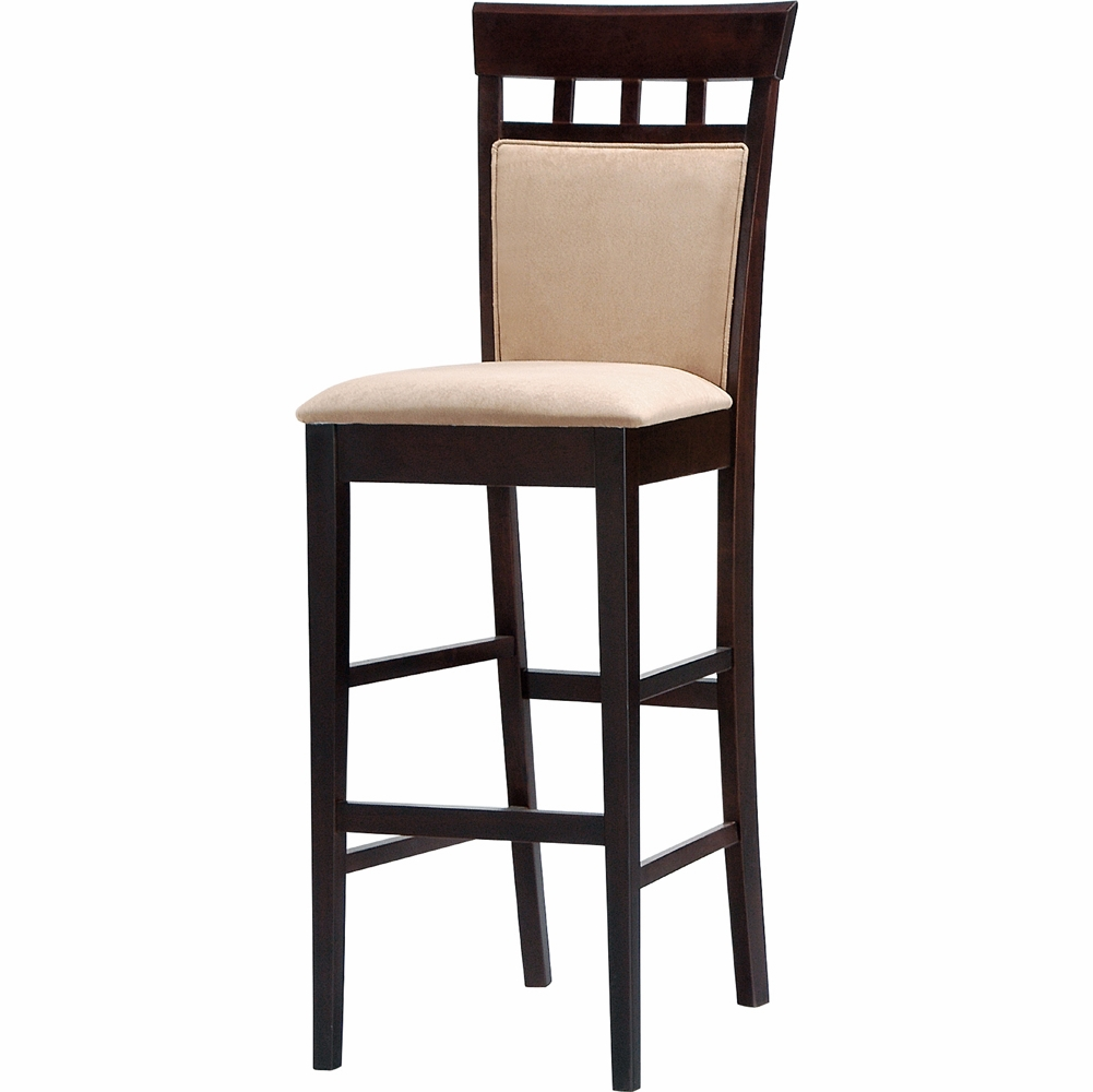 Coaster 29h Cushion Back Bar Stool Cappuccinof Set Of 2