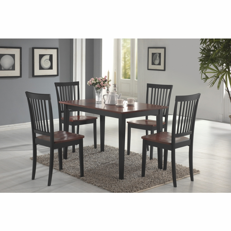 Coaster - 5 Pc Dining Set (Cappuccino Tobacco) - 150153