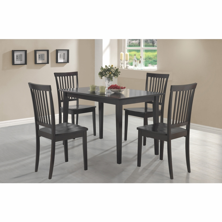 Coaster - 5 Pc Dining Set in Cappuccino Finish - 150152