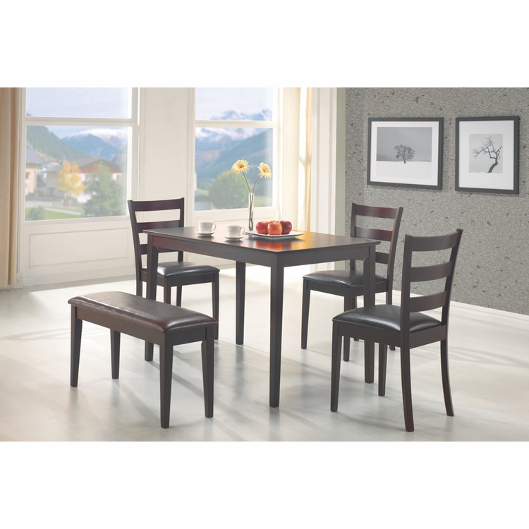 Coaster - 5 Pc Dining Set in Cappuccino Finish - 150232