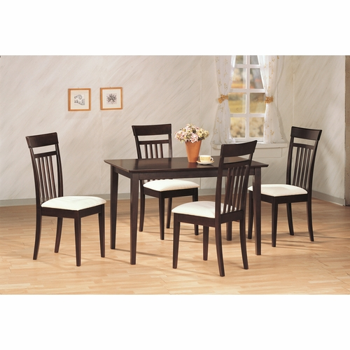 Coaster - 5 Pc Dining Set in Cappuccino Finish - 4430