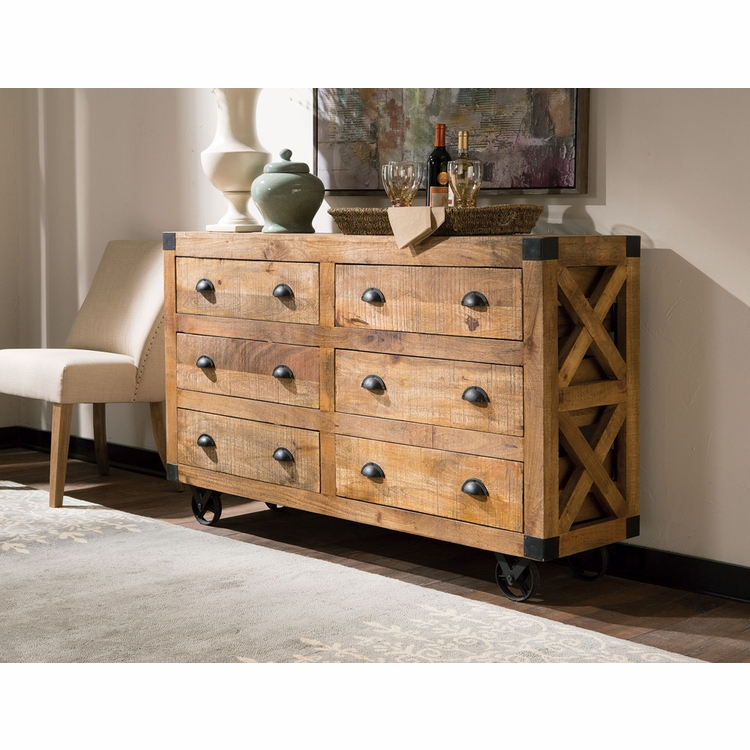Coaster - Accent Cabinet With Six Drawer In Rough Sawn Natural Finish - 950602