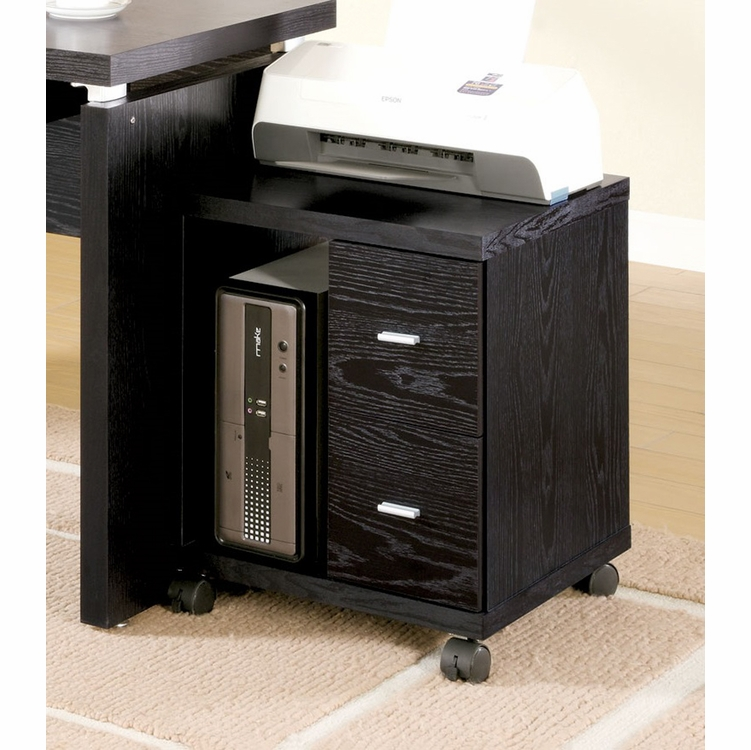 Coaster - Black 2 Drawer Computer Stand - 800822