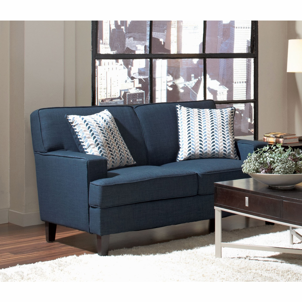 Outstanding Coaster Finley Loveseat Ink Blue 504322 Pdpeps Interior Chair Design Pdpepsorg