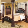 Coaster - Grand Prado Eastern King Bed in Cherry Finish - 202201KE
