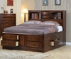 Coaster - Hillary California King Bed in Walnut Finish - 200609KW