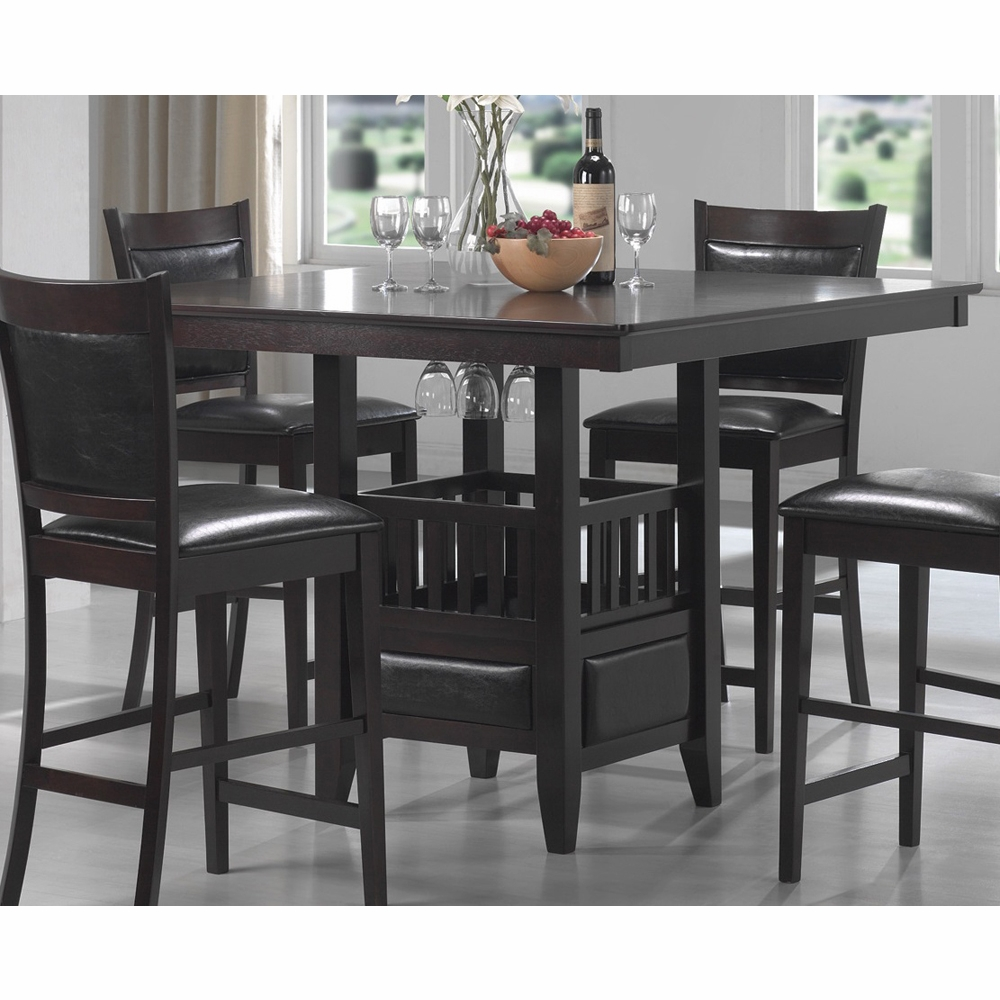 Coaster Jaden Counter Height Table In Cuccino Finish 100958