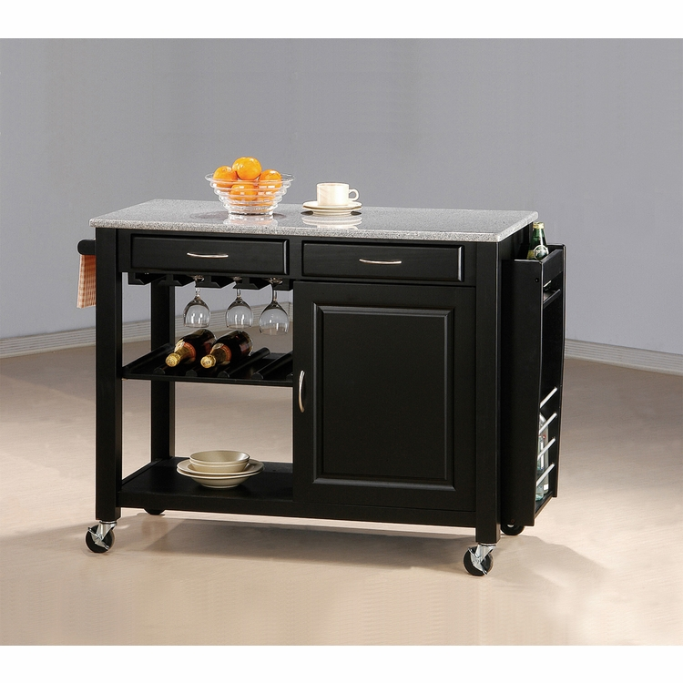 Coaster - Kitchen Cart (Black Granite Top) - 5870