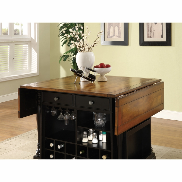 Coaster - Kitchen Island (Black/Brown) - 102270
