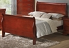 Coaster - Louis Philippe Eastern King Bed in Cherry Finish - 200431KE