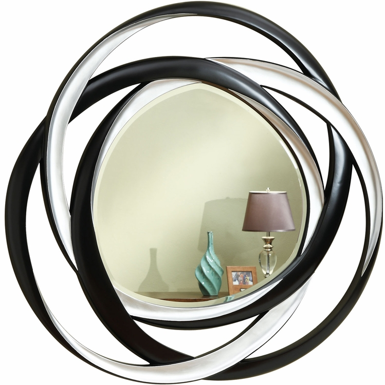 Coaster - Mirror (Black/Silver) - 901734