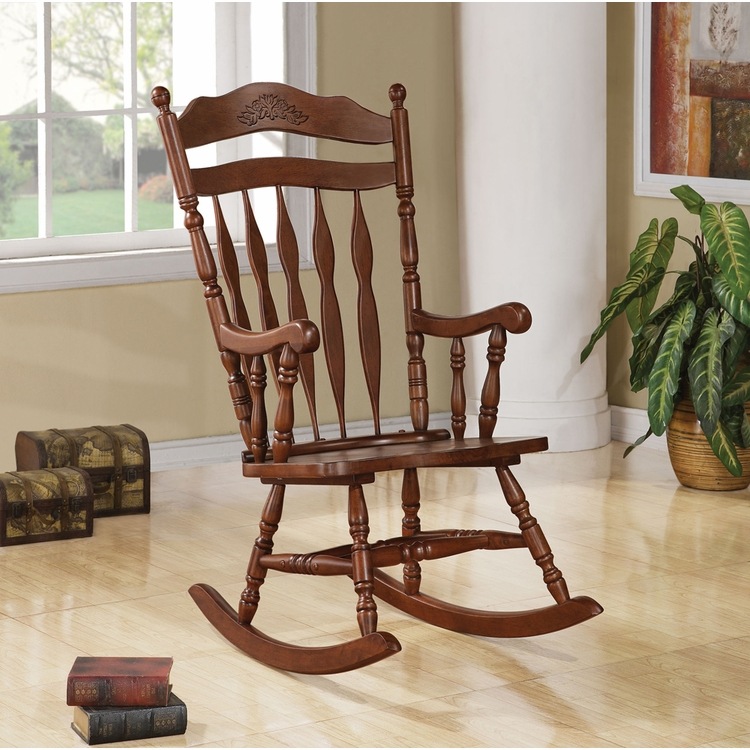 Coaster - Rocking Chair (Medium Brown) - 600187